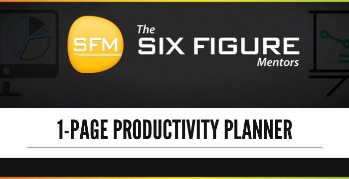 SFM Productivity Planner